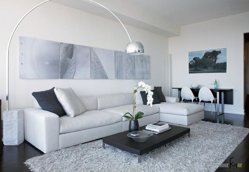 интерьер в черно-белом цвете фото