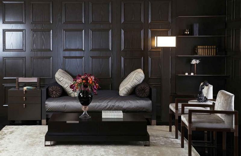 Wooden wall panels interior design