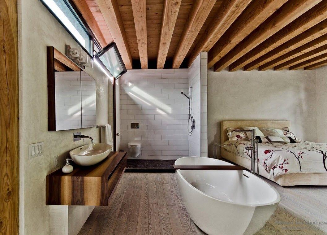 Open bathroom design