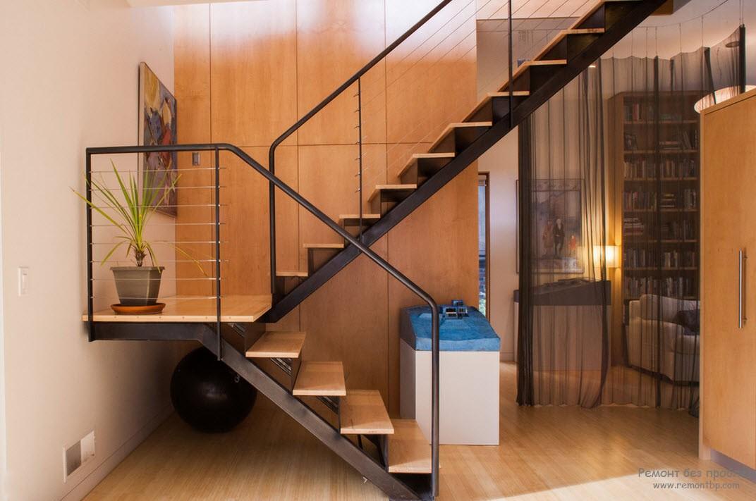 Фото лестниц на второй этаж в частном доме 3 фотография
