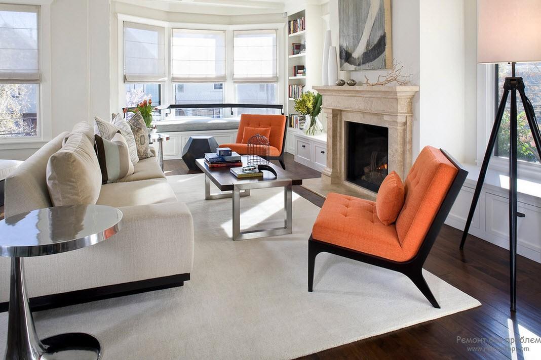 Gray beige living room