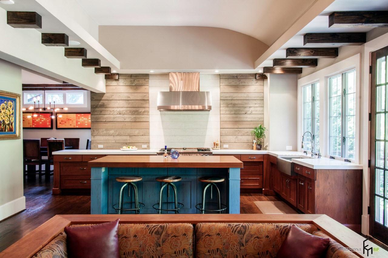 Современные гостиные кухни фото
