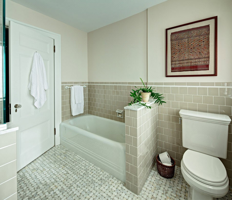 Wallpaper bathroom designs